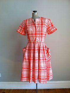1950's house dress | super cute 1950's plaid house dress. LOVE it. | The Real Housewives o ...