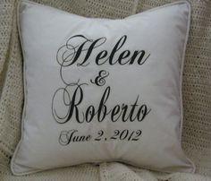 Personalized Edward and Bella Pillow Black & by nanaandmecreations, $30.00
