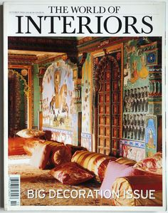 Big Decoration Issue Juna Mahal in Dungarpur. Arthur Bispo do Rosario. Constance Spry. Woburn Abbey's sale of packed up East Wing. Schloss Hellbrunn. Dungeness trailer home. Paris apartment of Lucien Herve. John Stefanides gentleman's residence. Kolmanskop, Namibia reclaimed by the desert. Jade Jagger in Ibiza. Dumfries house. Norman Foster in NewYork. Trompe-l'oeil at Villa Agliardi.