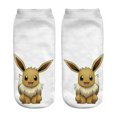 Pokemon Pikachu Fashion Young 3D Printed Printed Meias Women's Socks Low Cut Ankle Sock Calcetines Go Hosiery Socks