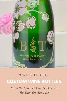 the perfect way to toast with your new life long partner - a custom wine bottle! the perfect way to toast with your new life long partner - a custom wine bottle! Wedding Planning List, Wedding Tips, Wedding Details, Custom Wine Bottles, Vintage Wedding Theme, Wedding Centerpieces, Wedding Invitations, Toast, In This Moment
