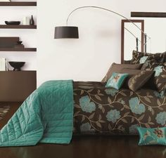 1000 images about decorating ideas on pinterest diy - Teal and brown bedroom ideas ...