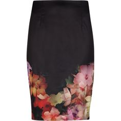 Bring your working wardrobe to life with this vivid pencil skirt. Crafted to flatter, vibrant touches of florals add a feminine touch to this classic shape, wh…