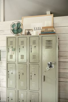 Vintage lockers make such a great option for unique decor in your home. Love these!