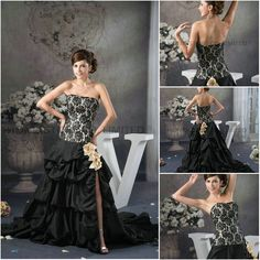 Aliexpress.com : Buy High Quality A line Strapless Court Train Satin with Flowers and Pick Up Skirt Wedding Dresses from Reliable pick up skirt wedding dress suppliers on HONEYSTORE CO., LIMITED $545.28