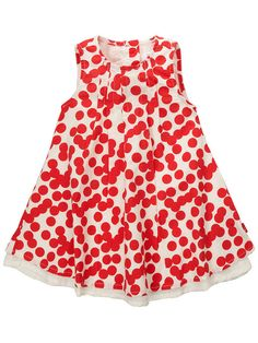 A cute Galaias dress for the little girl.Colour: RedGalaias printed Spencer dress. This short sleeve dress from Name it has subtle gatherings at the neckline and button fastenings at the reverse keep the choice both comfortable and practical. In addition this is dress is lined and has a white hem. This dress is perfect all year with tights, leggings or just with a cardigan.100% cottonSize 80cm (9-12 months) to (104cm 3-4 Years)