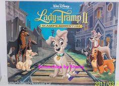 4 Walt Disney Art Classic Lady & Tramp II Lithographs