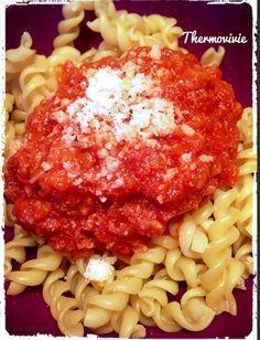 Sauce tomate au thon, recette express au thermomix