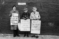 Pensioners Protesting Outside Margaret Thatchers home, London 1980 Jane Bown