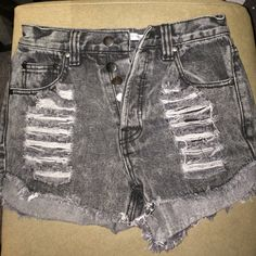 LF distressed shorts From nasty gal x mink pink collection. Never worn. Fits 24-25 Nasty Gal Shorts