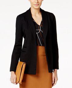 Alfani Shawl-Collar Open-Front Jacket, Only at Macy's - Blazers - Women - Macy's