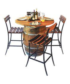 Round Top Barrel Table Set