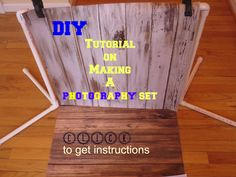 PVC Pipe Craft Projects:Learn How to Make a Photography Set #crafts