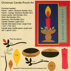 """Christmas Candle""Punch Art"