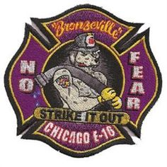 Chicago Engine 16 Purple Design Patch