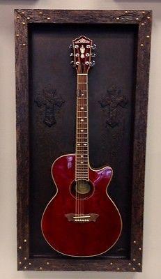 "Guitar Shadow Box ""The Light House"", Guitar Display Case, Guitar Mount, Handmade"