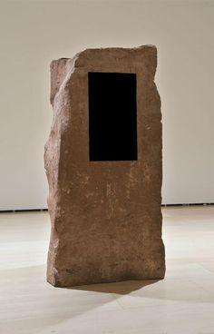 Anish Kapoor;  Adam, 1988–89;  Sandstone and pigment