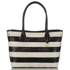 Perfect anytime, anywhere. The #brahmin black and white vineyard anytime tote. New for #summer2013