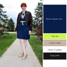 @Suze-Miss Vinyl looking spot on with her #navy dress and #neon belt. LOVE these colors together! #fashion