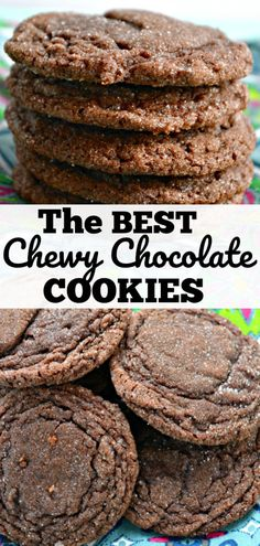 The BEST Chewy Chocolate Cookies on the planet! Check out this easy cookie recipe that is sure to have your friends asking you for the recipe! #cookies #dessert #easycookies #chocolatecookies #chocolate #chewy