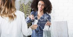 Saleswoman in boutique Royalty Free Stock Photo