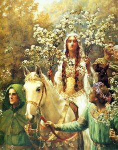 Queen Guinevere's Maying - by John Collier