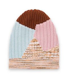 """This is a Missoni """"Patchwork"""" hat that costs... wait for it... 170GBP. Goal: remake for cheap with scrap bits out of pure, delicious spite."""