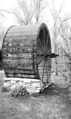 The old water wheel at Adams Mill in Cutler Indiana