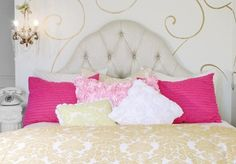 can never ever have enough pillows - especially if they are pink or fluffy or neutral pillows!!!
