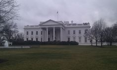 White House from behind