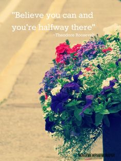 """"""" Believe you can and your'e halfway there"""" ~Theodore Roosevelt  #OtherViewPhotography"""