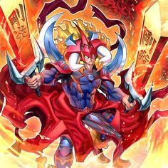 Mighty Flame Swordsman Artwork by BatMed on DeviantArt Black Rose Dragon, Fire Warrior, Yugioh Dragons, Yugioh Yami, Yugioh Monsters, Yugioh Collection, Bleach Art, Fantasy Beasts, Monster Cards