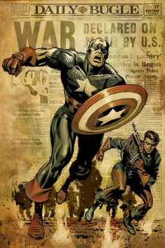 Captain America and Bucky by Butch Guice *