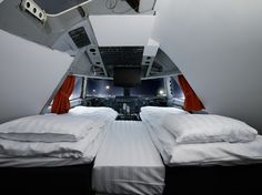 Jumbo Stay (Stockholm, Sweden):  It is made from a real jumbo jet located right at the Stockholm Arlanda Airport, so visitors can spend the night with a front-row view of planes taking off.