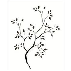 Estencil-para-Pintura-Simples-20x25-Arvore-Seca-OPA1235---Opa