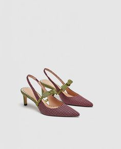 Image 5 of MID-HEEL SLINGBACK COURT SHOES WITH BOW DETAIL from Zara