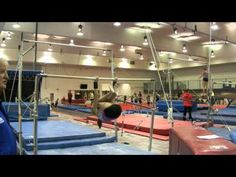 Uneven Bars. Ab conditioning.