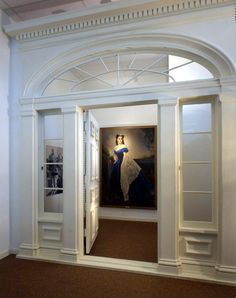 """the door from """"Gone With The Wind""""'s """"Tara"""" set - on display at the Margaret Mitchell House and Museum in Atlanta"""