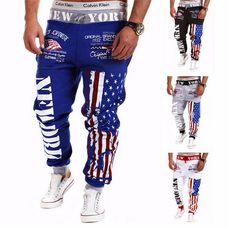 New Arrival Men's Jogger Harem Pants With American Flag Print