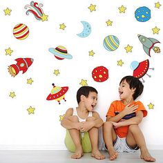 Space And Rockets Childrens Wall Stickers