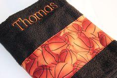 Personalized Bath Towel Custom Towel Basketball by flyinshirer