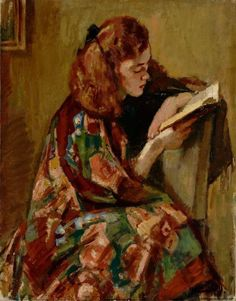 """""""Jeune fille lisant"""" (Young Girl Reading), Magnus Enckell, Finnish / b&a Reading Art, Woman Reading, Happy Reading, Reading Books, National Gallery, Books To Read For Women, Post Impressionism, Fine Art, Female Art"""