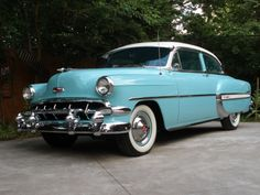 Saw a powder blue Chevrolet Bel Air 2 door yesterday.