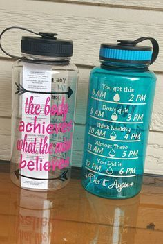 34 oz Motivational Water Bottles by CrystalsCreations98 on Etsy