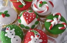 christmast cupcakes