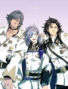 Bakumatsu Rock ~~ The Shinsengumi get a VERY different look here! :: Kondou Isami, Hijikata Toushizou, Okita Souji
