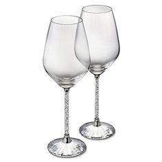 Crystalline White Wine Glasses (Set of 2) from #Swarovski