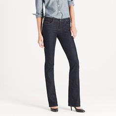 Bootcut jean in classic rinse wash, my new favorite.