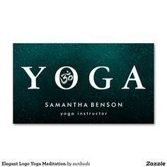 Elegant Logo Yoga Meditation Double-Sided Standard Business Cards (Pack Of 100)