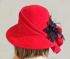 Claire mooie vacht voelde hoed echt een-of-a-kind door LuminataCo
